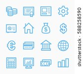 money web icons | Shutterstock .eps vector #588258590
