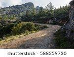 mountain road in kyrenia region ... | Shutterstock . vector #588259730