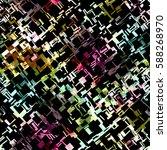 seamless pattern with grunge... | Shutterstock . vector #588268970