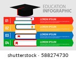 education step infographic... | Shutterstock .eps vector #588274730