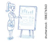 businesswoman presenting... | Shutterstock .eps vector #588276563