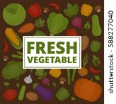 vegetables background. fresh... | Shutterstock .eps vector #588277040