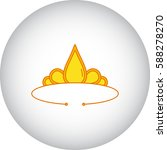 golden diadem symbol simple...   Shutterstock .eps vector #588278270