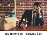 getting fired. handsome...   Shutterstock . vector #588281510