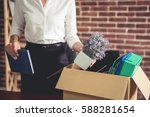 getting fired. cropped image of ... | Shutterstock . vector #588281654