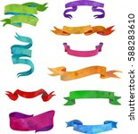 colorful ribbons. vector... | Shutterstock .eps vector #588283610