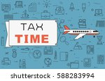 """airplane with banner """"tax time"""" ... 