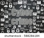security concept  chalk white... | Shutterstock . vector #588286184