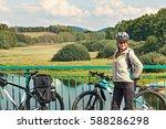 portrait of female tourist... | Shutterstock . vector #588286298