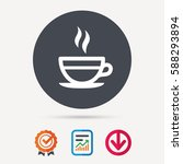 tea cup icon. hot coffee drink... | Shutterstock .eps vector #588293894