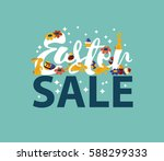 easter sale design eps 10... | Shutterstock .eps vector #588299333