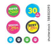 super sale and best offer... | Shutterstock .eps vector #588302093