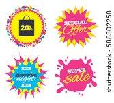 sale splash banner  special... | Shutterstock .eps vector #588302258