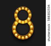 vector modern concept retro... | Shutterstock .eps vector #588302534