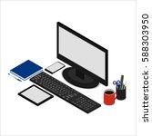 vector illustration. office... | Shutterstock .eps vector #588303950