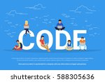 code concept illustration of... | Shutterstock .eps vector #588305636