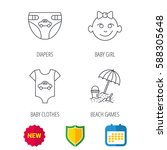 newborn clothes  diapers and... | Shutterstock .eps vector #588305648