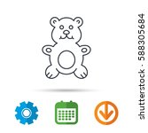 teddy bear icon. baby toy sign. ...   Shutterstock .eps vector #588305684