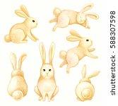 watercolor illustration  sunny... | Shutterstock . vector #588307598