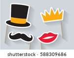 party set. concept with... | Shutterstock .eps vector #588309686