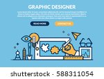 graphic designer concept for... | Shutterstock .eps vector #588311054