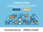 comunication concept for web... | Shutterstock .eps vector #588311060