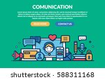comunication concept for web... | Shutterstock .eps vector #588311168