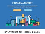 financial report concept for... | Shutterstock .eps vector #588311183