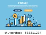 Finance Concept for web page. Vector illustration | Shutterstock vector #588311234
