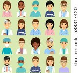 icons with doctors. the doctors ...   Shutterstock .eps vector #588317420