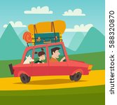 summer trip vector illustration.... | Shutterstock .eps vector #588320870