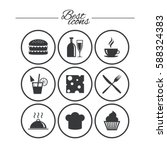 food  drink icons. coffee and... | Shutterstock .eps vector #588324383
