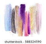 abstract artistic brush strokes ... | Shutterstock . vector #588324590
