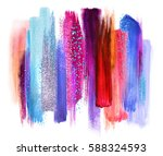 abstract artistic brush strokes ... | Shutterstock . vector #588324593