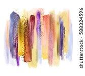 abstract artistic brush strokes ...   Shutterstock . vector #588324596