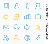 social media web icons  smm... | Shutterstock .eps vector #588325070