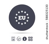 european union icon. eu stars... | Shutterstock .eps vector #588325130