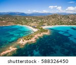 aerial  view  of palombaggia... | Shutterstock . vector #588326450