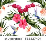 beautiful seamless vector... | Shutterstock .eps vector #588327404
