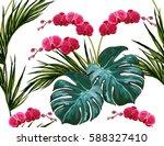 beautiful seamless vector... | Shutterstock .eps vector #588327410