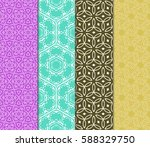 seamless ornamental pattern set.... | Shutterstock .eps vector #588329750