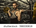 ready for workout  handsome... | Shutterstock . vector #588330818
