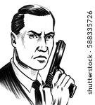 man with a gun | Shutterstock . vector #588335726