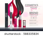 cosmetic lipstick and mascara.... | Shutterstock .eps vector #588335834