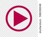 play icon illustration. vector. ... | Shutterstock .eps vector #588338348
