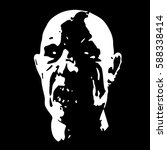 zombie face in black and white... | Shutterstock .eps vector #588338414