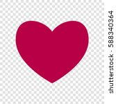 heart sign illustration. vector.... | Shutterstock .eps vector #588340364