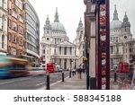 saint pauls cathedral in winter ... | Shutterstock . vector #588345188