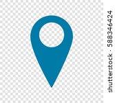 map pointer sign. vector.... | Shutterstock .eps vector #588346424