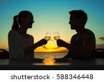 romantic dinning on by the... | Shutterstock . vector #588346448